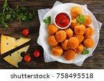 potato croquettes   mashed... | Shutterstock . vector #758495518