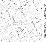grunge black and white seamless ... | Shutterstock . vector #758496772