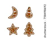 christmas collection.... | Shutterstock .eps vector #758498692