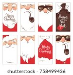 set christmas label  ... | Shutterstock .eps vector #758499436
