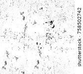 grunge black and white seamless ... | Shutterstock . vector #758502742