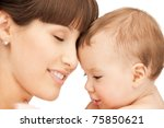 picture of happy mother with... | Shutterstock . vector #75850621