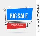 big sale banner template in... | Shutterstock .eps vector #758509636