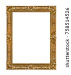 old wooden picture frame... | Shutterstock . vector #758514526