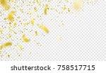confetti falling motion... | Shutterstock .eps vector #758517715