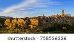 pitigliano medieval town in... | Shutterstock . vector #758536336