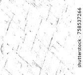grunge black and white seamless ... | Shutterstock . vector #758537266