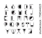 thin line style  linear modern... | Shutterstock .eps vector #758544025
