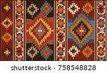 persian carpet  tribal vector... | Shutterstock .eps vector #758548828