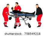 first aid training  help after... | Shutterstock .eps vector #758549218