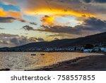sea view at sunset. izmir  urla ... | Shutterstock . vector #758557855