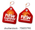 New summer collection labels. - stock vector