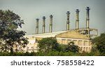 industry in india. evidence of...   Shutterstock . vector #758558422