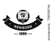 newborn kid logo. simple... | Shutterstock .eps vector #758558746