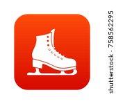 skates icon digital red for any ... | Shutterstock .eps vector #758562295