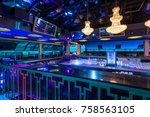 big modern luxury discotheque... | Shutterstock . vector #758563105