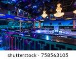 big modern luxury discotheque... | Shutterstock . vector #758563105