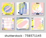 set of abstract backgrounds...   Shutterstock .eps vector #758571145