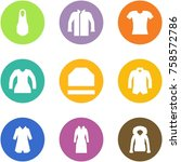 origami corner style icon set   ... | Shutterstock .eps vector #758572786