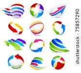 collection of colour arrows   Shutterstock .eps vector #75857290