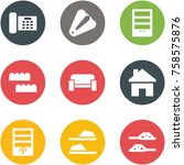 origami corner style icon set   ... | Shutterstock .eps vector #758575876