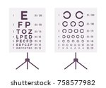 sight check table. eye chart to ... | Shutterstock .eps vector #758577982