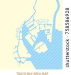 tokyo bay area map | Shutterstock .eps vector #758586928