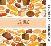 template page design food with... | Shutterstock .eps vector #758587465