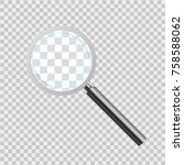 magnifying glass on checkered... | Shutterstock .eps vector #758588062
