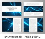 set of business templates for... | Shutterstock .eps vector #758614042