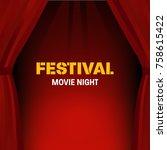 festival movie night. cinema ...   Shutterstock .eps vector #758615422
