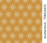 snowflake vector seamless... | Shutterstock .eps vector #758616652