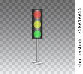 the isolated traffic lights for ... | Shutterstock .eps vector #758616655