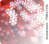 abstract winter background with ...   Shutterstock . vector #758617156