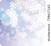 abstract winter background with ... | Shutterstock . vector #758617162