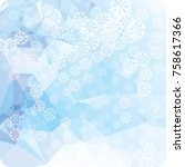 abstract winter background with ... | Shutterstock . vector #758617366