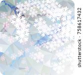 abstract winter background with ...   Shutterstock . vector #758617432
