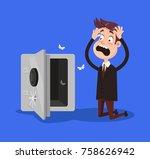sad shocked rich businessman... | Shutterstock .eps vector #758626942