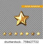 gold stars isolated on... | Shutterstock .eps vector #758627722