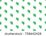 green arrows seamless texture | Shutterstock .eps vector #758642428