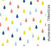abstract handmade drop seamless ... | Shutterstock .eps vector #758643166
