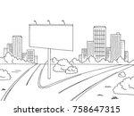 road city graphic black white... | Shutterstock .eps vector #758647315
