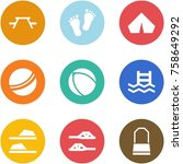origami corner style icon set   ... | Shutterstock .eps vector #758649292