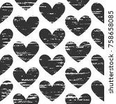 black and white seamless... | Shutterstock .eps vector #758658085
