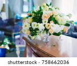 flowers arrangement bouquets as ... | Shutterstock . vector #758662036