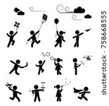 set of pictograms representing... | Shutterstock .eps vector #758668555