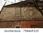 ruined houses in poor... | Shutterstock . vector #758669125
