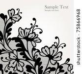 black lace vector design  all... | Shutterstock .eps vector #75866968