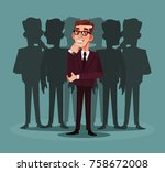 business recruitment. vector... | Shutterstock .eps vector #758672008