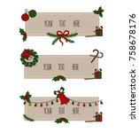 merry christmas. grreting card. ...   Shutterstock .eps vector #758678176